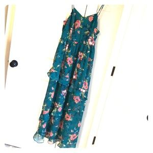 Beautiful Teal floral Maxi dress